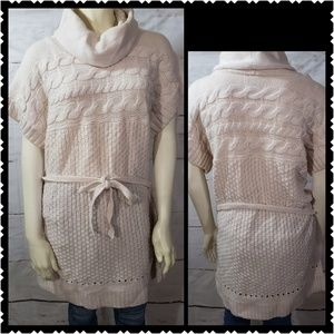 FYLO XL Chunky Knit Heavy Sweater Cowl cream